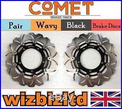 Pair Front Brake Discs Suzuki GSF 650 AL0/AL1/AL2 Naked Bandit ABS 07-11 W904BK