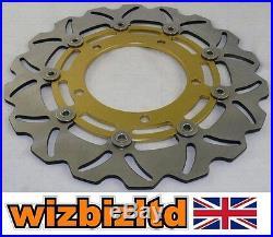 Pair Front Gold Wavy Brake Discs Suzuki GSF 1200 AK6 (Naked Bandit) 2006 WDF904