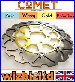 Pair Gold Discs Suzuki GSF650 K5/K6 (Naked Bandit Non ABS) 2005-2006 W908GD2