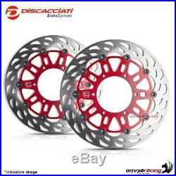 Pair of front floating discs Discacciati light 310 red Suzuki Bandit 1200