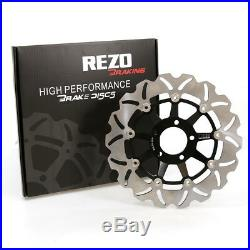 Rezo Wavy Front Brake Disc & EBC HH Pad Kit Suzuki RF 900 F 94-99