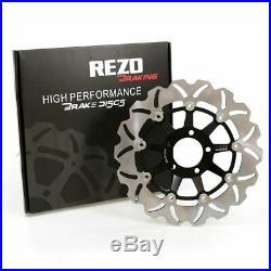 Rezo Wavy Front Brake Disc&EBC Sintered Pad Kit Suzuki GSF 1200 S Bandit 95-00