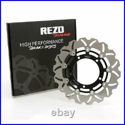 Rezo Wavy Front Brake Disc&EBC Sintered Pad Kit Suzuki GSF 1250 S Bandit ABS