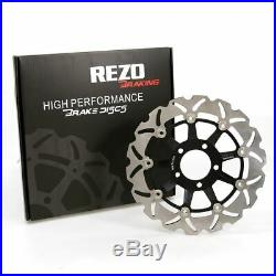 Rezo Wavy Front Brake Disc&EBC Sintered Pad Kit Suzuki GSF 600 N Bandit 95-99