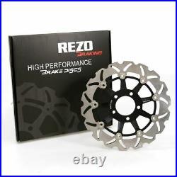 Rezo Wavy Front Brake Discs Pair Suzuki GSF 600 GSX 600/750 F SV 400/650