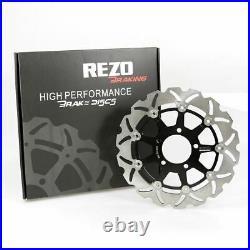 Rezo Wavy Front Brake Rotor Discs Pair fits Suzuki GSF 650 S Bandit 05-06