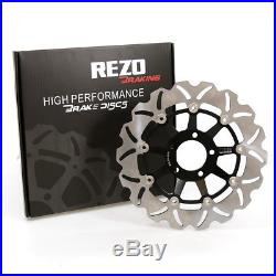 Rezo Wavy Stainless Front Brake Disc Pair For Suzuki GSF 1200 Bandit 95-05