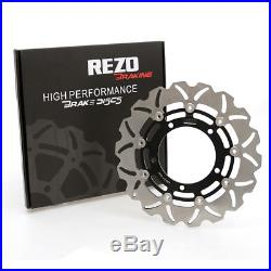 Rezo Wavy Stainless Front Brake Disc Pair For Suzuki GSF 1250 N Bandit 07-11