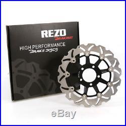 Rezo Wavy Stainless Front Brake Disc Pair For Suzuki GSF 600 N Bandit 95-04