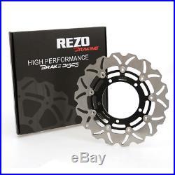 Rezo Wavy Stainless Front Brake Disc Pair For Suzuki GSX 1300 B-King 08-12