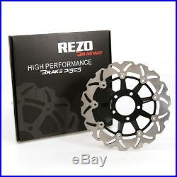 Rezo Wavy Stainless Front Brake Disc Pair For Suzuki GSX 750 F 89-02