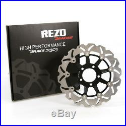 Rezo Wavy Stainless Front Brake Disc Pair For Suzuki RF 600 R 93-97