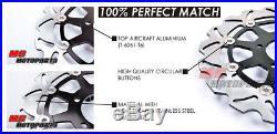 Stainless Steel Front Brake Disc Set For Suzuki GSX 1200 INAZUMA 99-02 99 00 01