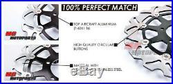 Stainless Steel Front Brake Disc Set For Suzuki GSX 650 F ABS 08-14 09 10 11 12