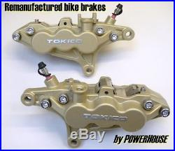Suzuki Bandit GSF 1200 K1 front brake caliper refurbishment service 2001 01