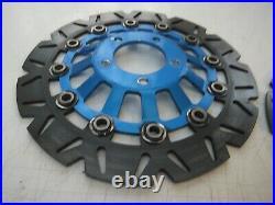 Suzuki Bandit Gsf600 Mk1 Gsf 600 Front Brake Discs Wavy Blue Rotors 1995 1999