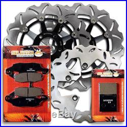 Suzuki F+R Brake Disc Rotor + Pads GSF 600 Bandit 2000-2004 SV 650 1999-2002