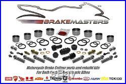 Suzuki GSF1200 Bandit front brake caliper piston seal rebuild kit 2001 2002 2003