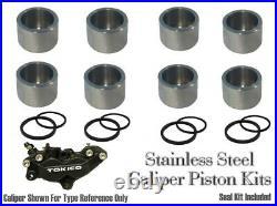 Suzuki GSF1250S BANDIT ABS 07-12 Stainless Steel Front Caliper Piston & Seals