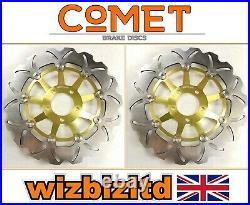Suzuki GSF 1200 S Bandit 2001-2005 Pair of Comet Front Brake Discs Gold WF
