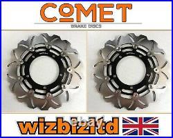 Suzuki GSF 1250 S Bandit (ABS) 2007-2016 Pair Comet Front Black WF Brake Discs