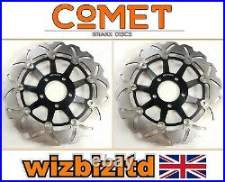 Suzuki GSF 600 Bandit 1995-1999 Pair of Comet Front Brake Discs Black WF
