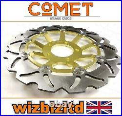 Suzuki GSF 600 S Bandit 1996-1999 Pair of Comet Front Brake Discs Gold WF