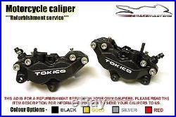 Suzuki GSF 650 Bandit 00 front brake calipers refurbishment service 2010 L0 AL0