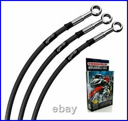 Suzuki Gsf1250a Bandit Abs 07-13 Classic Black Stainless Std Front Brake Lines