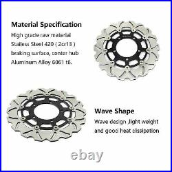 Wave Front Brake Discs Disks for SUZUKI SV 650 S 03-10 GSF650 Bandit ABS 05-07